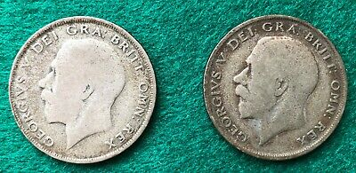£6 • Buy 2 George V Half Crowns 1920 And 1921-selling For Charity