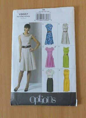 £4 • Buy Vogue Ladies Dress Pattern V8667 Sizes UK 8/10/12/14 New And Uncut, 'Easy'