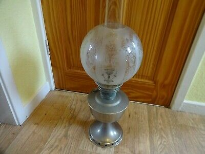 £68 • Buy Vintage Original Aladdin Oil Lamp Model 12 - With Funnel & Shade Height 59x20 Cm