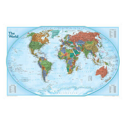 AU12.92 • Buy WORLD MAP LARGE POSTER ART PRINT KIDS EDUCATION SIZE 59*39in