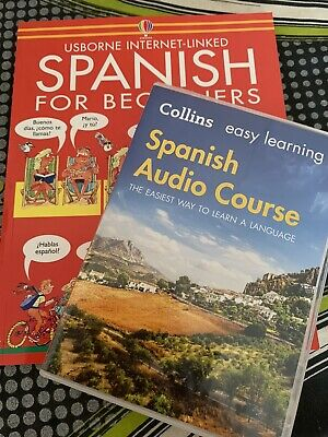 £8 • Buy COLLINS SPANISH AUDIO COURSE EASY LEARNING CD's  + SPANISH FOR BEGINNERS BOOK