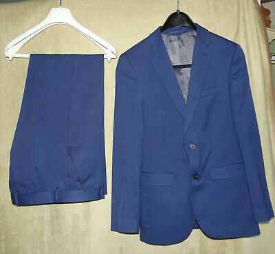 £10 • Buy Mens Taylor & Wright Slim Fit Suit 38/32 - 38R Jacket 32R Trousers - Navy Blue