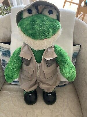 £12 • Buy Build A Bear - Frog With Fisherman Outfit. 18  Plush Soft Toy