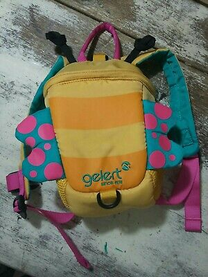 £1.90 • Buy Gelert Yellow Pink Blue Butterfly Toddler Backpack With Harness Attachment