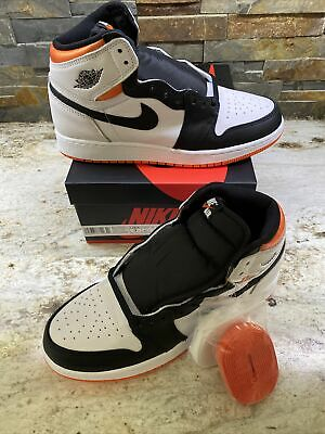 $160 • Buy Air Jordan 1 High 'Electric Orange' Size 7Y GS In Hand FAST SHIPPING DS