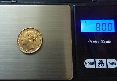 £331 • Buy 1884 QUEEN VICTORIA YOUNG HEAD 'M'  22CT GOLD FULL SOVEREIGN Inc Pendant Mount