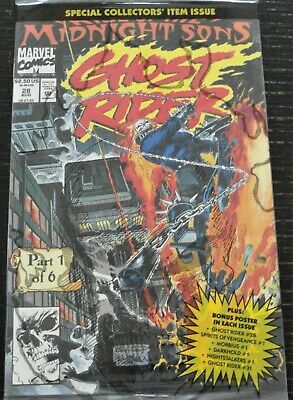 £5.72 • Buy 1992 Marvel Comics Midnight Sons Ghost Rider #28 Special Collector's Item Sealed
