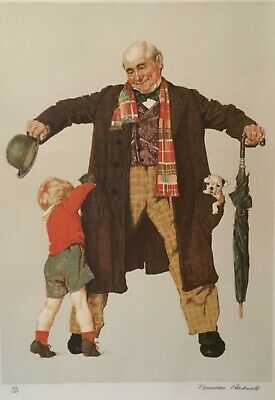 $ CDN3072.05 • Buy Norman Rockwell Limited Edition Lithograph Hand Signed  A Child's Surprise