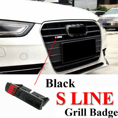 £5.99 • Buy S Line Badge Front Grill Emblem Matt Surfaces Alloy Black & Red Styling Decals