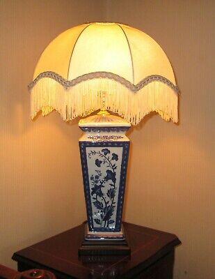 £80 • Buy Vintage Westlite Blue White Floral Willow Chinese Porcelain Table Lamp Base