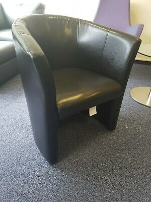 £10 • Buy Rock Tub Chair In Black Faux Leather