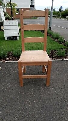 £100 • Buy Dining Chairs 6 Beech/oak Very Solid Wood