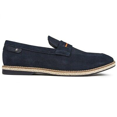 £32 • Buy BASE LONDON Mens Kinsey Loafers Shoes Blue