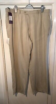 """£10 • Buy New Linen Men's Trousers W42"""" Leg 31"""" Taylor & Wright Relaxed Suit Matalan"""