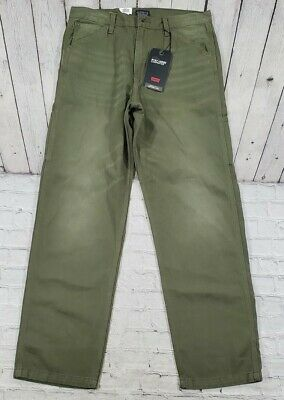 $42.75 • Buy Levi's Premium Stay Loose Carpenter Olive Green Jeans Pants MENS SIZE 32x34