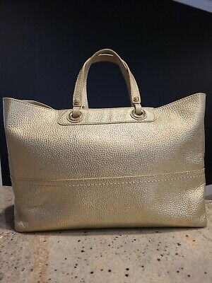 AU20 • Buy 'Oroton' Leather Tote Bag Gold With Gold Hardware