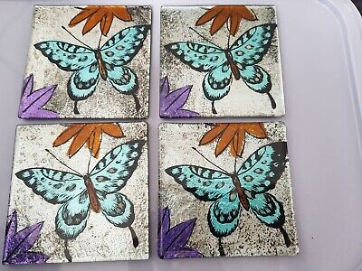 £9.99 • Buy 4 Glass Butterfly Coasters