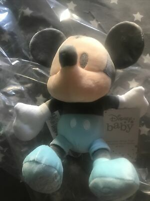 £10 • Buy Disney My First Mickey Mouse 2021 Baby Small Soft Blue Bean Bag Toy Doll 27cm