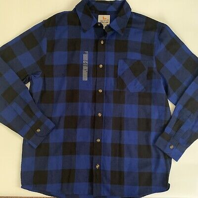 $22.99 • Buy Field And Stream Mens Shirt Sz XL Button Front Long Sleeve Dark Plaid Flannel