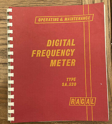 £12 • Buy Racal SA.520 Frequency Counter Operating And Maintenance Manual