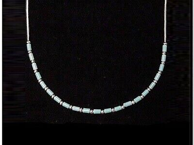 £14.25 • Buy Liquid Silver Necklace With Turquoise - Authentic Native American Jewellery