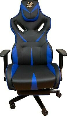 AU188.70 • Buy Viper High-back Gaming Chair Comfortable Adjustable Height Rotatable PC (Blue)