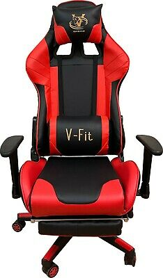 AU188.70 • Buy Viper V-fit Gaming Chair Back Adjustable Height Rotatable PC Gamer Chair (RED)
