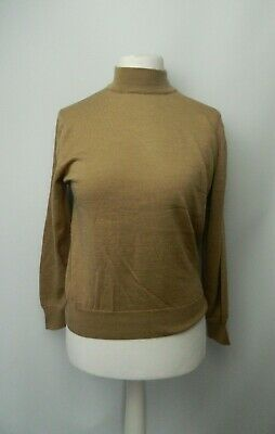 £13.99 • Buy Cotswold Collection Beige Jumper Size 10-12 100% Merino Wool Office Autumn