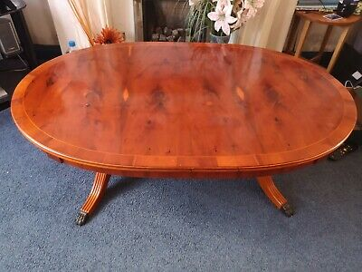 £30 • Buy A Reprodction Yew Twin Pedestal Coffee Table