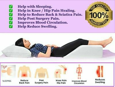 £16.99 • Buy Elevating Leg Wedge Pillow For Back Hip Knee Pain & Maternity Pregnancy Support
