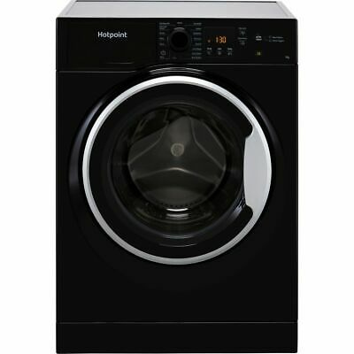 £279 • Buy Hotpoint NSWM743UBSUKN 7Kg 1400 RPM Washing Machine Black D Rated New