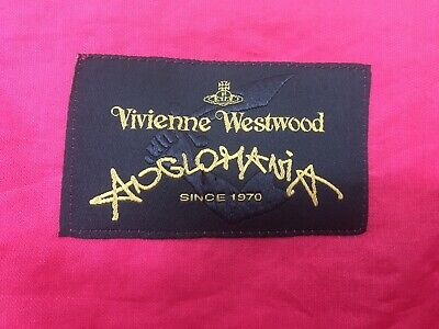 £75 • Buy VIVIENNE WESTWOOD ANGLOMANIA  SHORE DRESS In FUCHSIA  Size 40 (S