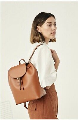 AU170 • Buy Oroton Harriet Backpack Medium Cognac New With Dustbags