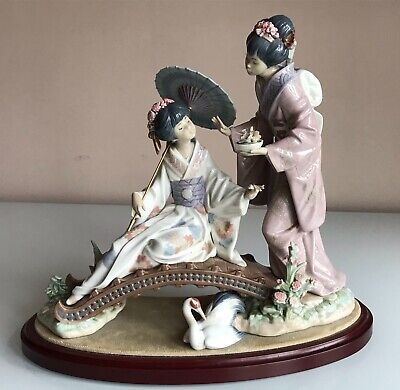 £795 • Buy Lladro Springtime In Japan 1445 + Box & Stand 1983