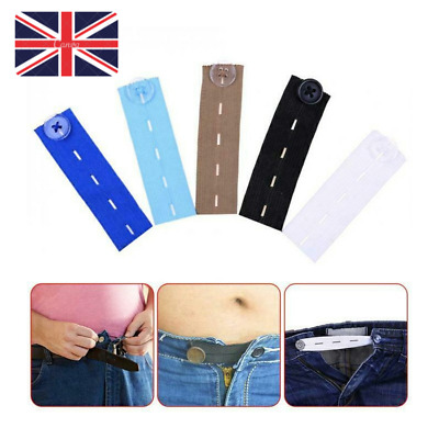 £2.99 • Buy Adjustable Elastic Waist Extenders With Button Waistband Expander Set For Jeans.