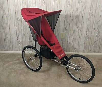 £163.77 • Buy Baby Jogger II-20 Alloy Running Stroller 3 Wheels Used Red Toddler