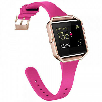 AU37.96 • Buy (Large, Pink Puple& Rose Gold) - Amcute Compatibe For Fits Fitbit Blaze Band
