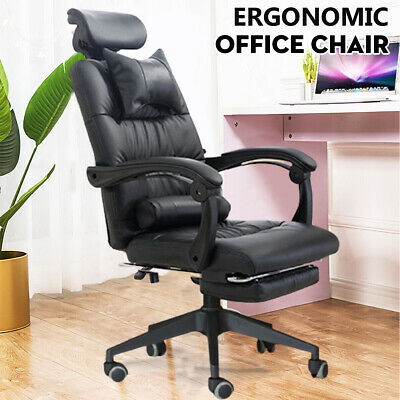 £59.99 • Buy Executive Massage Office Chair Recliner Swivel Gaming Chair Computer PU Leather