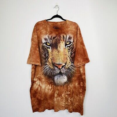 £21.20 • Buy The Mountain Mens Tiger T-Shirt Animal Nature Graphic Tee Size 3XL