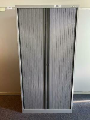£180 • Buy Bisley Steel Silver 1970mmh X 1000mmw X 470mmd Tambour Fronted Cupboard