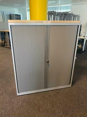 £144 • Buy Bisley Steel Silver 1180mmh X 1000mmw X 470mmd Tambour Fronted Cupboard
