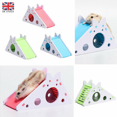 £5.87 • Buy Pets Rat Hamster Toy Wood Exercise House Cage With Ladder Slide Nest Accessories
