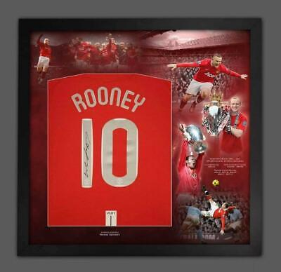 £225 • Buy WAYNE ROONEY Signed Manchester United 2008 Champions League Shirt Montage Frame