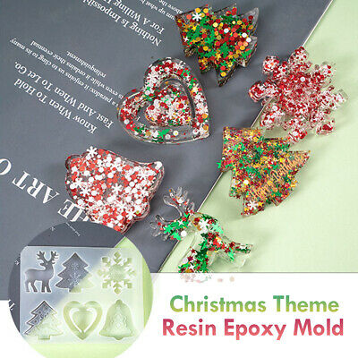 £4.19 • Buy Christmas Tree Hanging Decor Silicone Jewelry Casting Mold Resin Epoxy Mould DIY