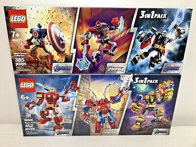 £65.83 • Buy 2 Lego Marvel 3 Pack Costco Exclusives 66671 & 66635 Mech Armor & Super Mech NEW