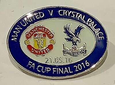 £2.99 • Buy 2016 FA Cup Final Badge Manchester United V Crystal Palace