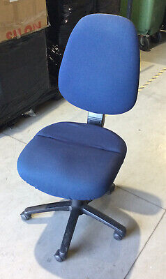 AU49.95 • Buy Blue Fabric Office Chair | Hard Casters | Great Condition | 30 Day Warranty