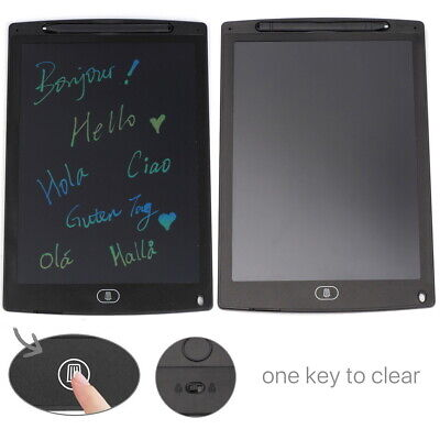 AU15.93 • Buy 12  LCD Writing Tablet Board Blackboard Graphics Pad For Drawing Memo Doodle