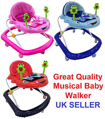 £34.99 • Buy NEW Baby Walker First Steps Push Along Bouncer Activity Music Ride On Car Melody
