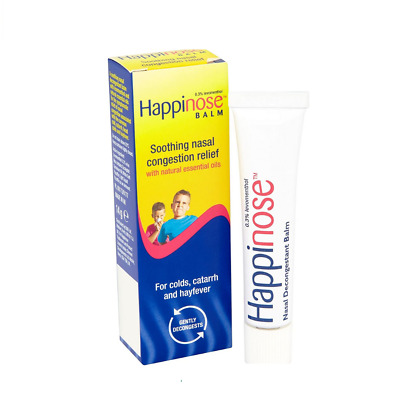 £4.52 • Buy Happinose Balm Soothing Nasal Congestion Relief - 14g - COLDS CATARRH HAYFEVER